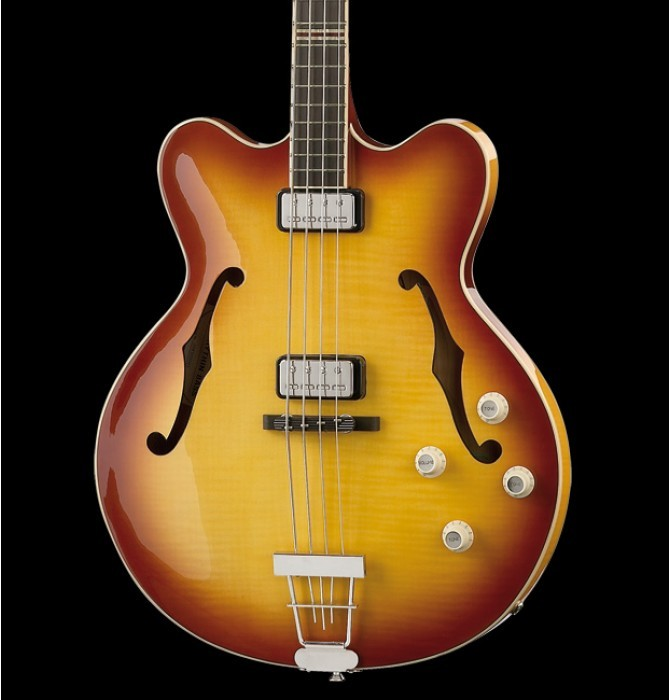 Hofner CT Contemporary Verythin Bass Reissue HCT-500/7-SB with Hard Shell Case